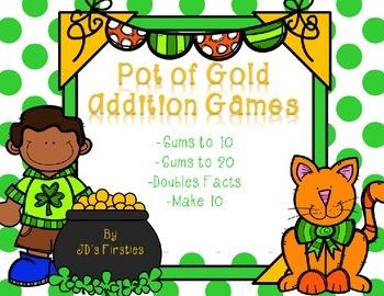 St. Patrick's Day No-Prep Addition Games