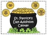 St. Patrick's Day Addition Math Facts Center {FREEBIE}