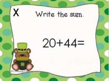 St. Patrick's Day Addition Task Cards