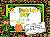 St. Patrick's Day Addition and Subtraction Math Art