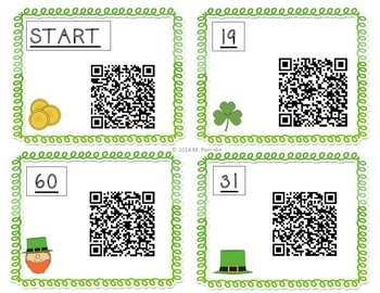 Addition and Subtraction: St. Patrick's Day QR Code Hunt
