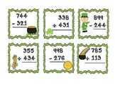 St. Patricks Day Addition and Subtraction Task Cards