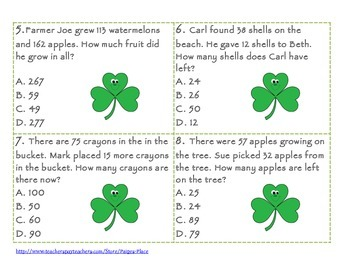 Addition and Subtraction Word Problem SCOOT