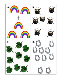 St. Patrick's Day Addition and Subtraction Write the Room