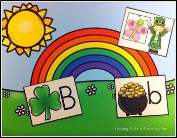 St. Patrick's Day Alphabet Match-Up