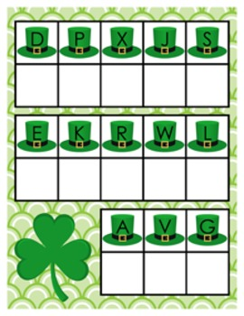St. Patrick's Day Alphabet Matching Activity