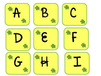 St. Patrick's Day Alphabet Memory
