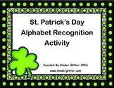 FREE St. Patrick's Day Alphabet Recognition Activity!