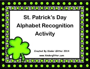 FREE St. Patrick's Day Alphabet Recognition Activity!