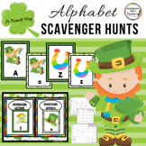 St. Patrick's Day Alphabet Scavenger Hunt:  Center & Printables