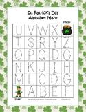 St. Patrick's Day Alphabet Tracing Mazes