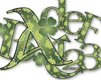 St. Patrick's Day Alphabet - Uncial Lettering - Latin Alphabet