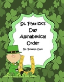 St. Patrick's Day Alphabetical Order Activity Sheet