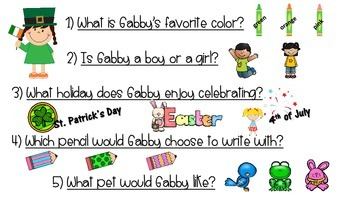 """St. Patrick's Day Answering """"Wh"""" Questions"""