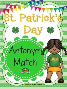 St. Patrick's Day Antonym Match