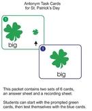St. Patrick's Day Antonym Task Cards