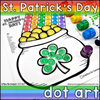 St. Patrick's Day Dot Art {No Prep!}