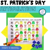 St. Patrick's Day Articulation Roll Say Color - Sound Practice Speech Therapy