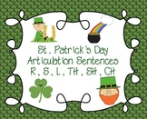 St. Patrick's Day Articulation Sentences: R, S, L, TH, CH, SH