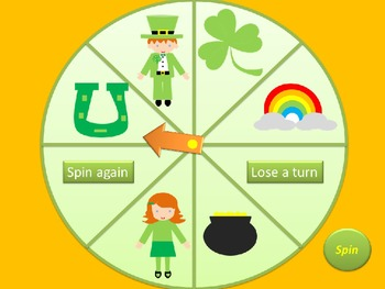 St. Patrick's Day Articulation Spinner Game