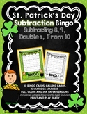 St Patrick's Day BINGO Subtraction