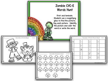St. Patrick's Day BLACKLINE Math And Literacy Centers! Shamrocks And Zombies!