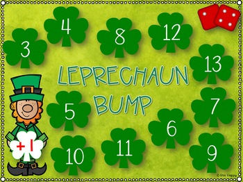 St Patrick's Day Math BUMP games