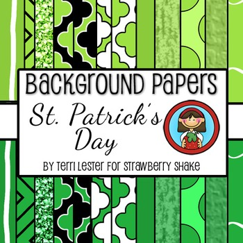 St. Patrick's Day Background Papers 12x12 personal and commercial use