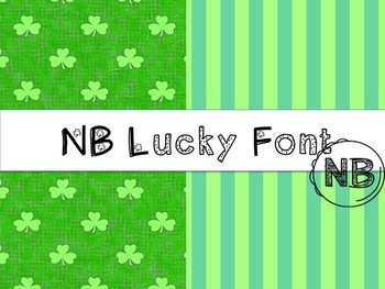 St. Patrick's Day Backgrounds and Font