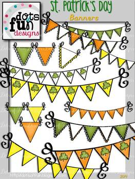 St. Patrick's Day Banners ~Dots of Fun Designs~