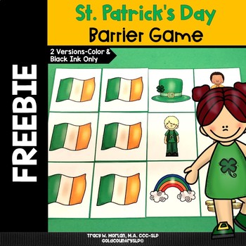St. Patrick's Day Barrier Game FREEBIE