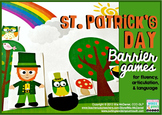 Barrier Games for St. Patrick's Day themed Speech and Language Therapy