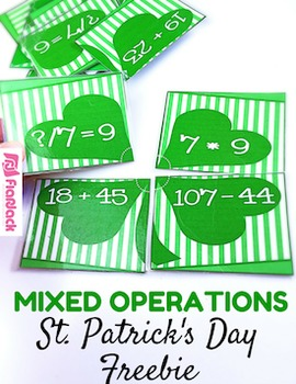 St. Patrick's Day Basic Operations Puzzles