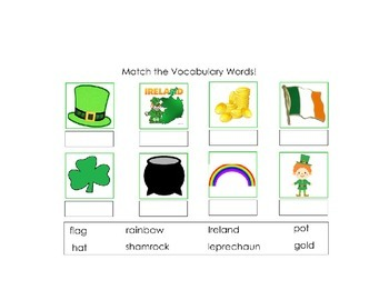 St. Patrick's Day Basic Skills SMART Notebook for Autism and Early Childhood