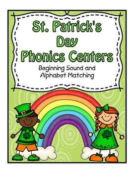 St Patrick's Day Beginning Sound Center and Phonics Matching