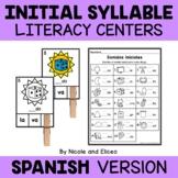 Spanish Beginning Syllable Literacy Centers