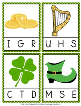 St Patricks Day Beginning Sounds Clip Cards
