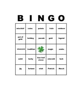 Free St. Patrick's Day Bingo