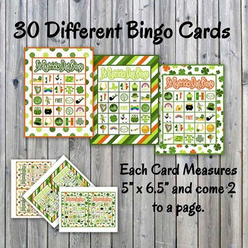 image regarding Mahjong Card Printable identified as St. Patricks Working day Bingo Playing cards and Memory Video game - Printable - Up towards 30 avid gamers
