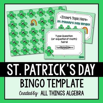 Bingo Game Template: St. Patrick's Day
