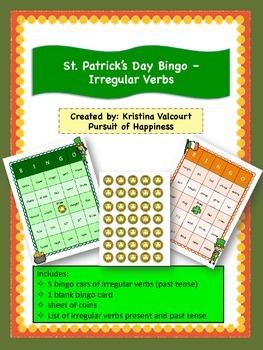 St. Patrick's Day Bingo - Irregular Verbs