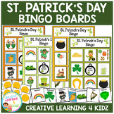 St. Patrick's Day Bingo Lotto Game Autism