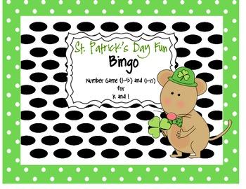 St. Patrick's Day Bingo: Numbers (1-5) & (1-10)