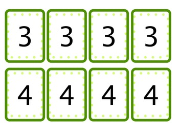St. Patrick's Day Bingo: Numbers (1-5) & (1-10)