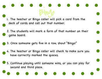 St. Patrick's Day Bingo: Numbers (1-5)
