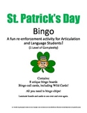 St. Patrick's Day Bingo! Speech & Language Re-enforcement & Enrichment Activity