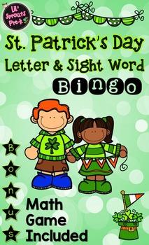St. Patrick's Day Bingo for Literacy Centers