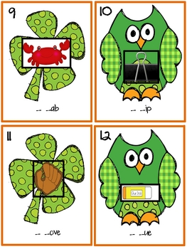 St. Patrick's Day Blends - A Write the Room and Word Sort Activity