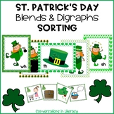 St. Patrick's Day Blends and Digraphs Picture Sorting Activity