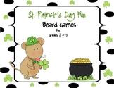 St. Patrick's Day Board Games:  Grades 2 - 3